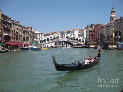 Venice Gondolier Art Print by John Malone