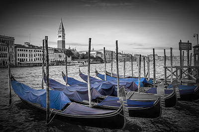 Venice Grand Canal And St Mark's Campanile Art Print by Melanie Viola