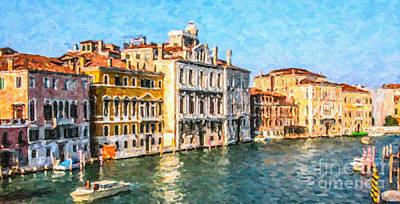 Europe Digital Art - Venice - Grand Canal by Liz Leyden