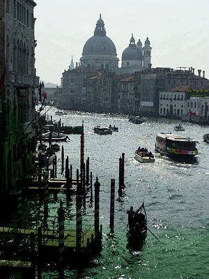 Channel Photograph - Venice Grand Canale Italy Summer by Irina Sztukowski
