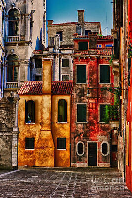 Art Print featuring the photograph Venice Homes by Jerry Fornarotto