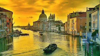 Golden Venice 3 Hdr - Italy Art Print by Maciek Froncisz