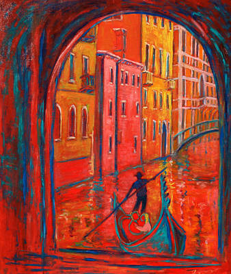 Painting - Venice Impression Viii by Xueling Zou