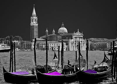 Photograph - Venice In Black And White by Caroline Stella