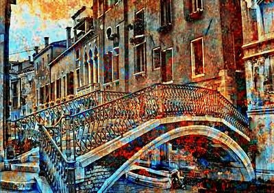 Digital Art - Venice In Grunge 2 by Greg Sharpe