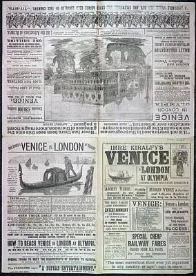 Venice In London At Olympia Art Print by British Library