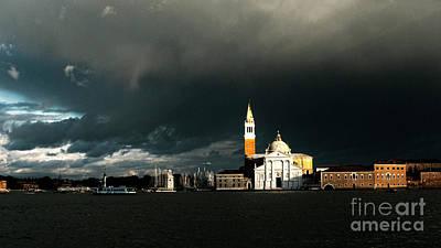 Scenic Photograph - Venice Island Saint Giorgio Maggiore by Heiko Koehrer-Wagner