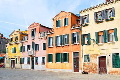 Digital Art - Venice Italy Buildings by Eva Kaufman