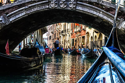 Venice Italy Gondola - Ride Through Canal Art Print