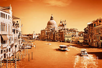 Photograph - Venice Italy Grand Canal by Michal Bednarek
