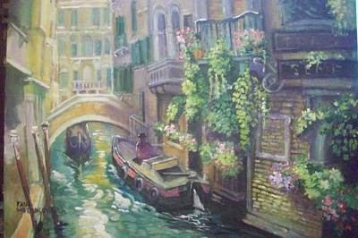 Painting - Venice -italy by Paul Weerasekera