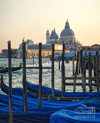 Venice Italy - Santa Maria Della Salute And Gondolas Art Print by Gregory Dyer
