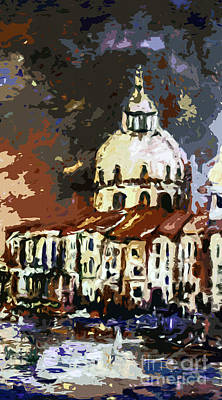 Venice Italy Santa Maria Della Salute Art Print