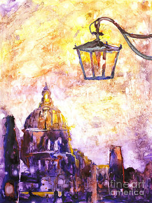 Painting - Venice Italy Watercolor Painting On Yupo Synthetic Paper by Ryan Fox