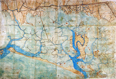 Carousel Collection Photograph - Venice: Map, 1546 by Granger