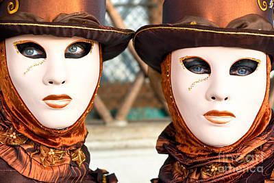Venice Masks - Carnival. Art Print