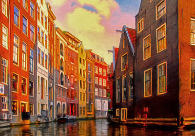 Water Way Painting - Venice by Michael Pickett