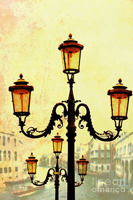 Gas Lamp Photograph - Venice by Mike Nellums
