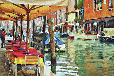 Venice Murano Art Print by Yury Malkov
