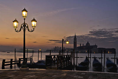 Photograph - Venice Night Lights by Marion Galt