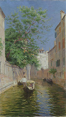 Gondolier Painting - Venice by Remy Cogghe