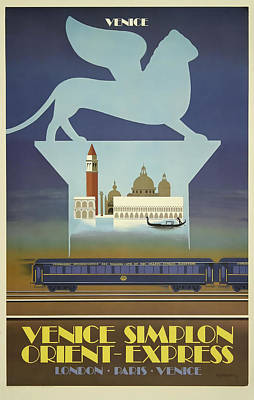 Venice Mixed Media - Venice Orient Express by David Wagner