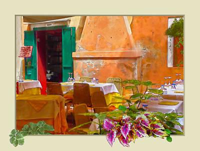Venice Patio Cafe Art Print