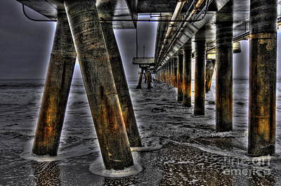 Photograph - Venice Pier Darkly by Richard Omura
