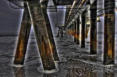 Venice Pier Darkly Art Print