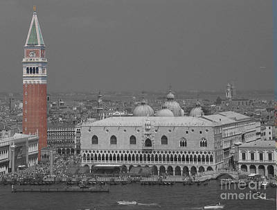 Photograph - Venice Plaza De San Marco Markusplatz by Art Photography