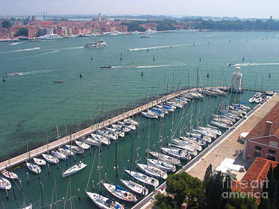 Photograph - Venice Port With Boats From Above by Art Photography
