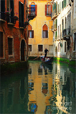 Venice Reflections Art Print by Bob Christopher