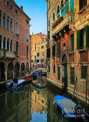 Veneto Photograph - Venice Reflections by Inge Johnsson