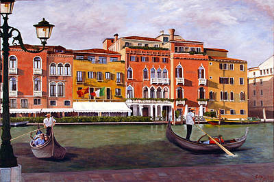 Art Print featuring the painting Venice by Rick Fitzsimons