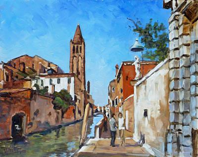 Painting - Venice - Rio Di San Barnaba by Irek Szelag
