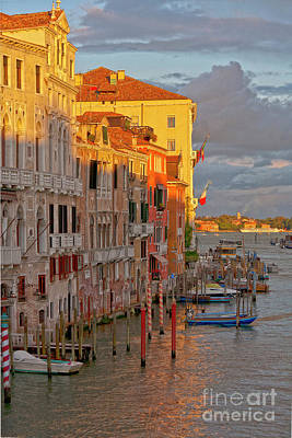 Venedig Photograph - Venice Romantic Evening by Heiko Koehrer-Wagner