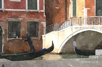 Venice Rush Hour Art Print