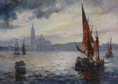 Spring Painting - Venice - San Giorgio After Rain by Irek Szelag