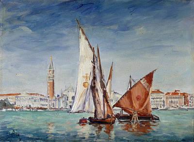Sail Painting - Venice - San Marco - Skyline With Sails by Irek Szelag