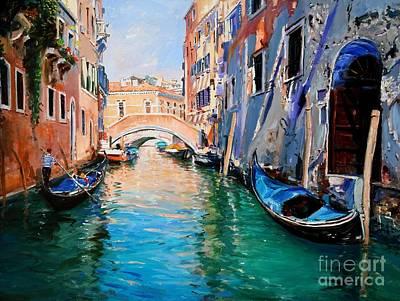 Painting - Venice by Sefedin Stafa