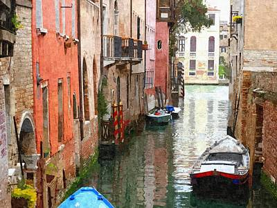 Venice Side Canal Art Print by Bishopston Fine Art