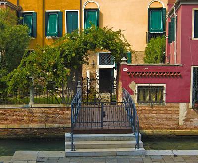 Burano Photograph - Venice Steps by Francois Girard