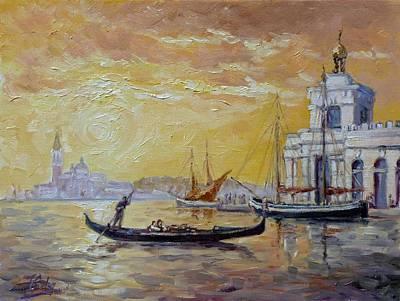 Painting - Venice Sunrise - Dogana by Irek Szelag