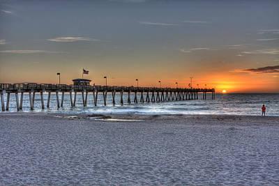 Venice Beach Photograph - Venice Sunset  by Gerald Adams