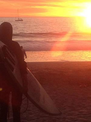Photograph - Venice Surfer by Bobbi Bennett