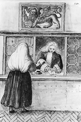 Banker Painting - Venice Teller by Granger