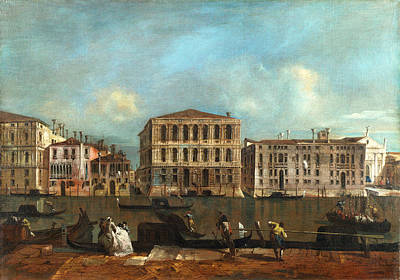 Francesco Guardi Painting - Venice - The Grand Canal With Palazzo Pesaro by Francesco Guardi