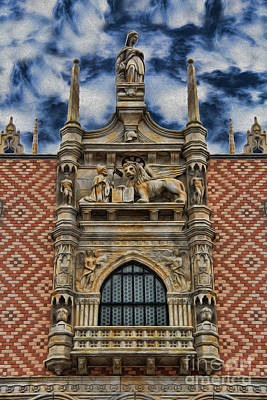 Venice - The Lion Of Saint Mark Print by Lee Dos Santos