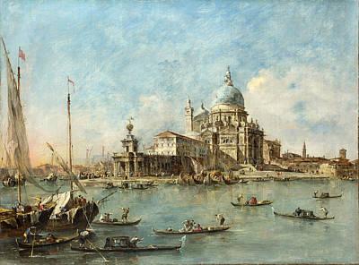 Francesco Guardi Painting - Venice - The Punta Della Dogana by Francesco Guardi