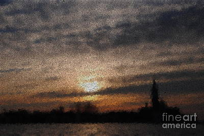 Photograph - Venitian Sunset Through Crackeled Glass by Jacqueline M Lewis
